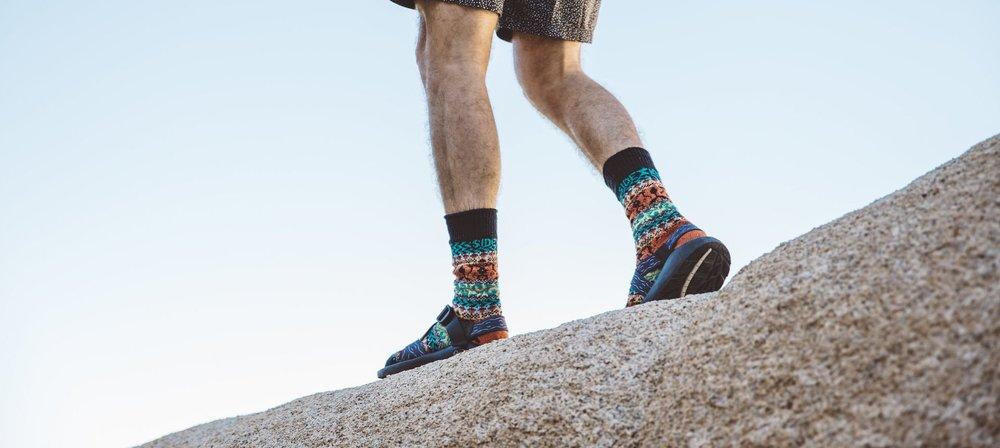Sidekick Socks - Portland, OR.  Colorful knit socks using recycled yarn.
