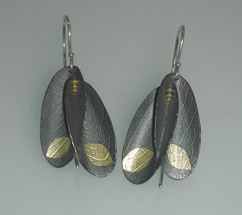 Christine Mackellar - Brooklyn, NY.  Fused gold & oxidized sterling silver bracelets, earrings, & necklaces.