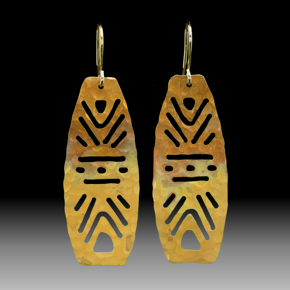 Earl Jones - Baltimore, MD.  Copper earrings in bold shapes & contemporary designs.
