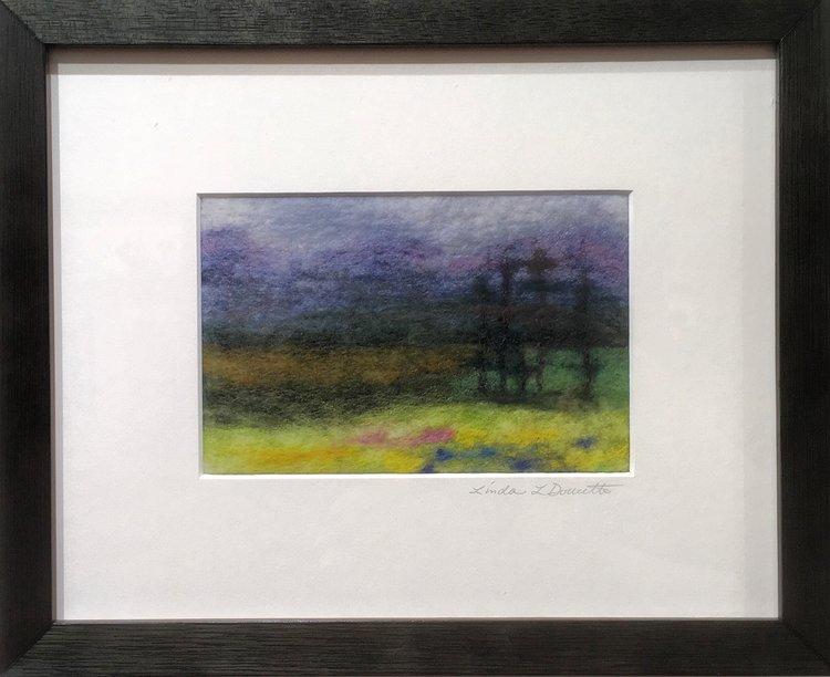 Linda Doucette - Millville, PA.  Needle felted landscapes.