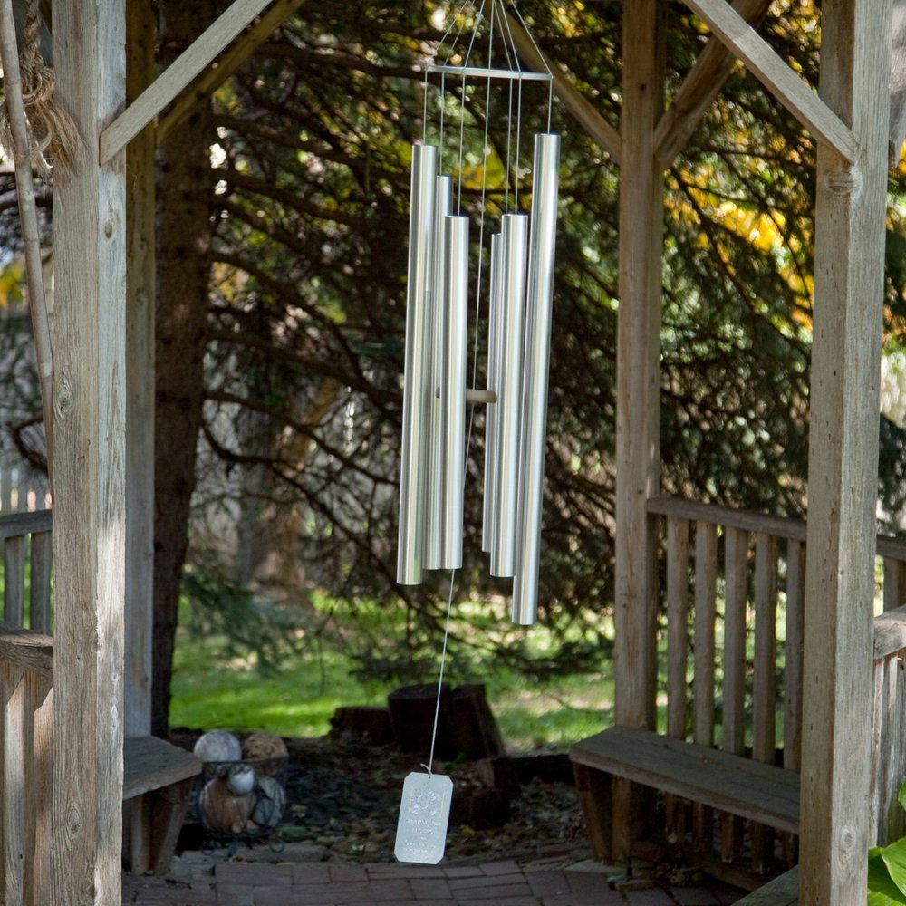 Grace Note Windchimes - Mariposa, CA.  Aluminum wind chimes uniquely suspended for longer, clearer resonance.