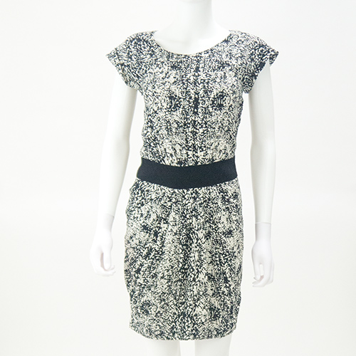 Whistles Black White Shift Dress Size Uk 10 Fertha