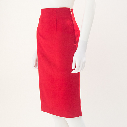 Bright Red Pencil Skirt | Jill Dress