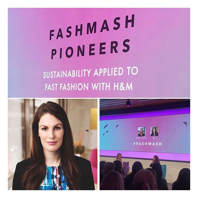 An evening well spent listening to Anna Gedda, Head of Sustainability @hm talking at the @fashmash Pioneers event. Some very interesting insights into H&M's ambitious sustainability goals, alongside provoking thoughts on the actual sustainability of fast fashion. #annagedda #hm #fashmash #sustainable #sustainability #sustainablefashion #fastfashion #sustainableliving #hmconscious #hmsustainability