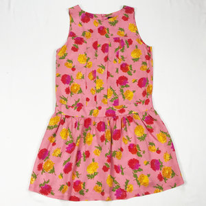 7b7be49f68941 Topshop pink floral print pleated shift dress. Size UK 10