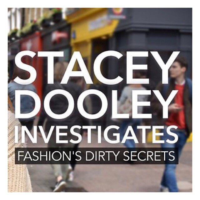 On @bbc NOW ⚡️ @sjdooley exposing the harmful effects of fashion production. Worth a watch! 📺 #staceydooley #bbc #documentary #fashiondirtysecrets #fashionsdirtysecrets #fastfashion #sustainablefashion #environment @lucysiegle
