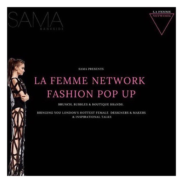 ⚡️ POP UP SHOP ⚡️ Excited to be part of the @la_femme_network Fashion Pop up next Saturday 3 November SAMA Bankside, London. Get your tickets through eventbrite. . . . We will share more info over the next week! 💫. #lafemmenetwork #popup #fashionpopup #independentwomen #independentbrand #sustainable #sustainablefashion #secondhand #secondhandfirst  #londonpopup #bankside #eco #ecofashion