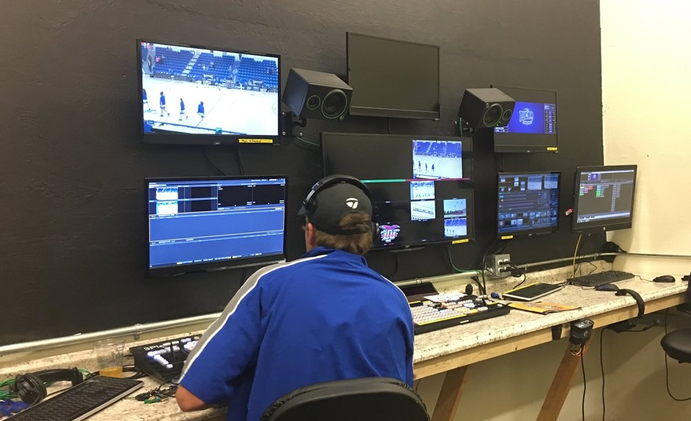 The control room in the Rip Griffin Center