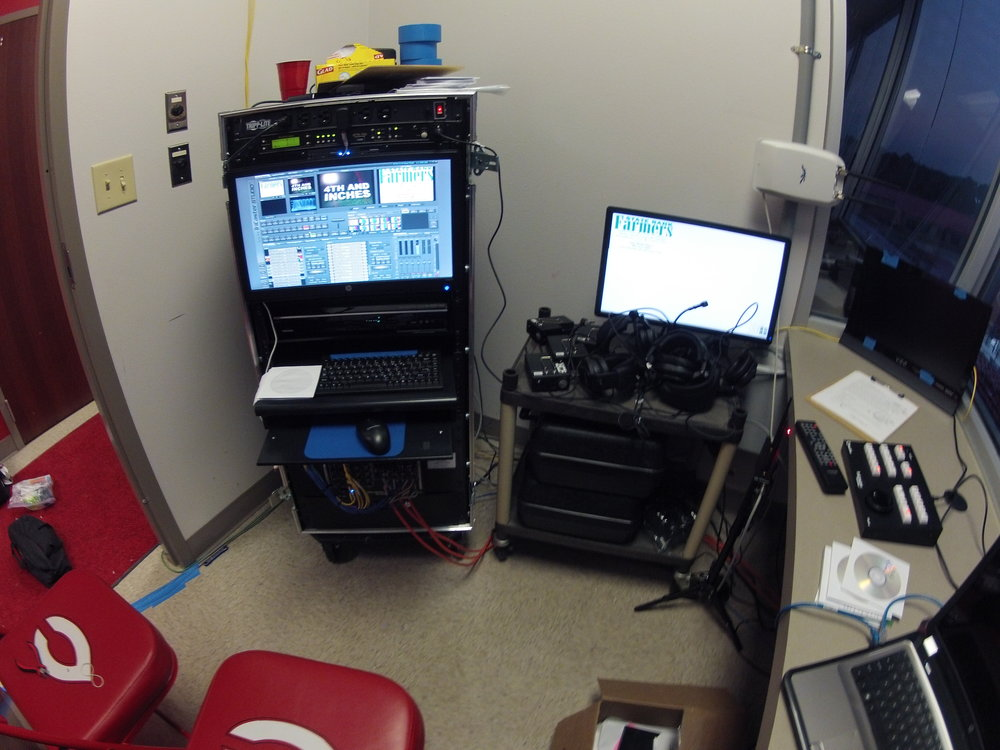 Previous control room setup
