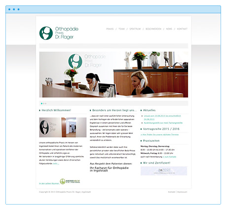 Wordpress Webseite und SEO - Top 5 Ranking: Orthopädie Ingolstadt