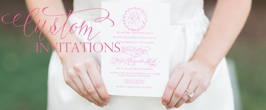 Erica Hammer Calligraphy Custom Invitations