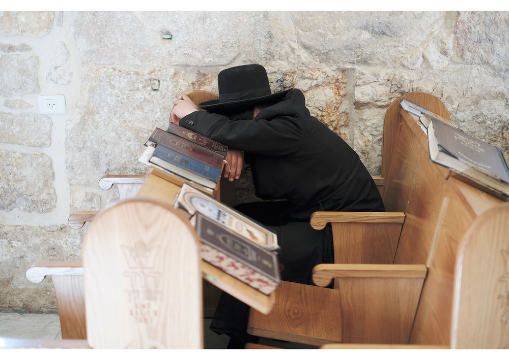 Jewish scholar sleeping
