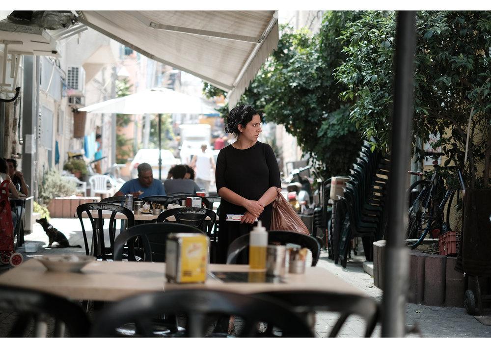 Israelian woman watching