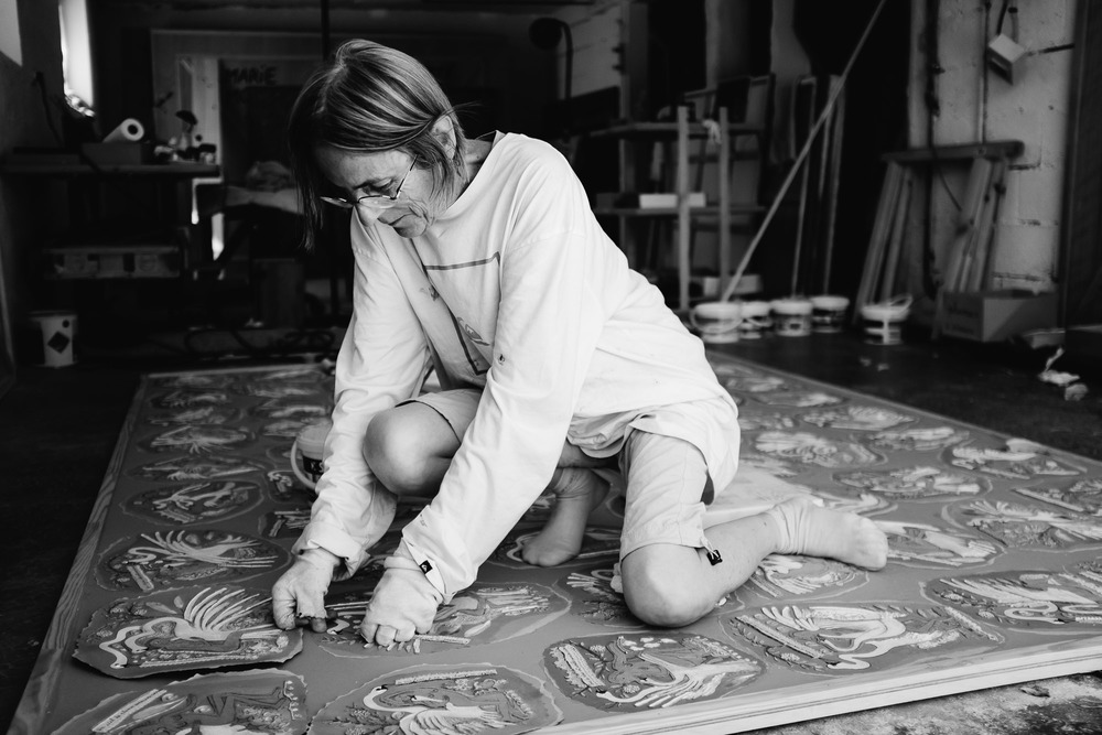 Marie Morel au travail