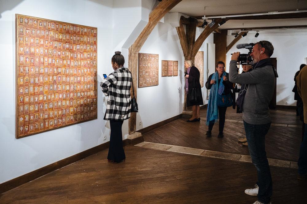 Vernissage de l'exposition de Marie Morel à l'Espace des Femmes