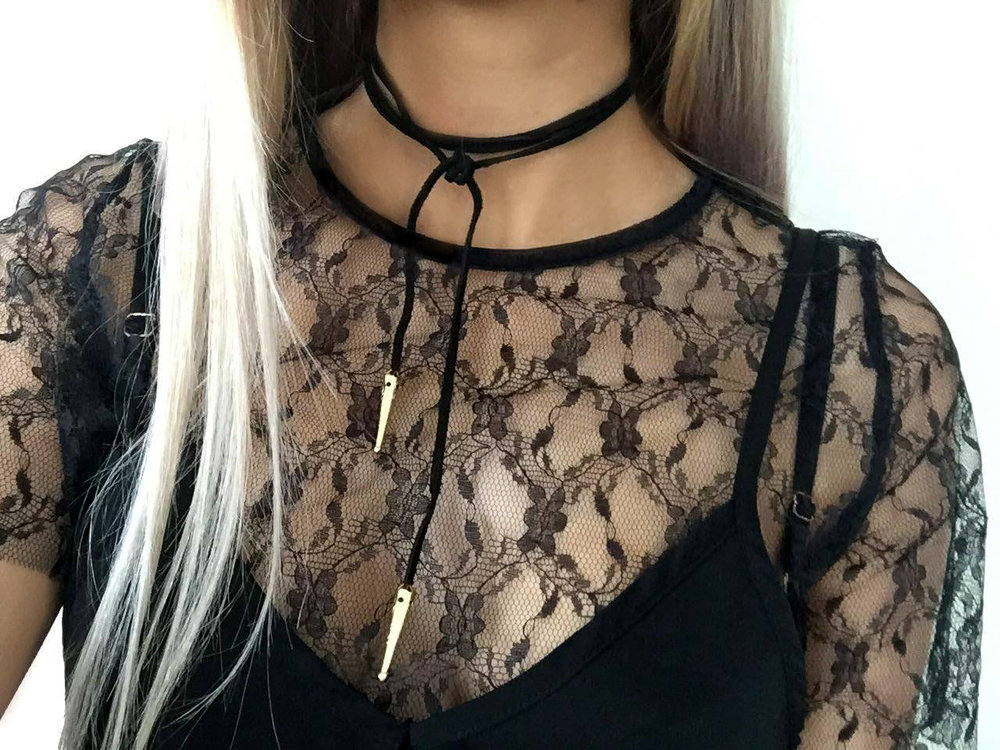 Choker: Rock N Rose Top: Missguided