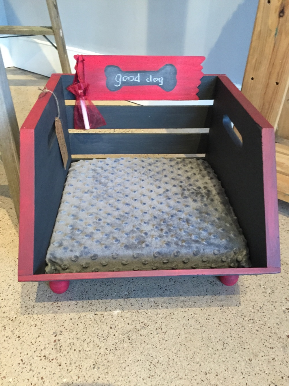 Good Dog Crate - Made from a crate and quite handsome for the macho pet!