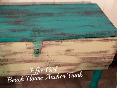 added some pretty painted legs and the anchor stencil as a beach themed storage trunk this baby sold within 24 hours of being in store furniture stores