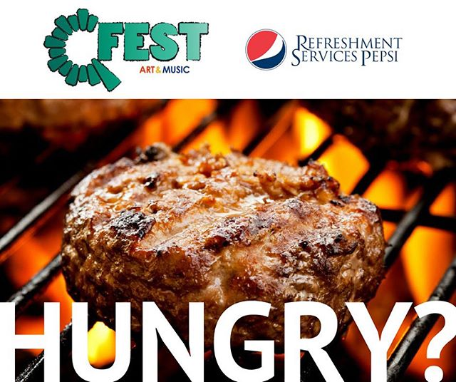 Hungry? Our Q-FEST food vendors have you covered! The Butcher Block, A & A Pizza, MyCountyMarket, Gengenbacher's Shaved Ice Shack, TCBY #QFEST .  Hot dogs, burgers, wraps, pizza, frozen yogurt, shaved ice, and more... plus #Pepsi products to quench your thirst. . @theqfest @gengeniceshack @mycountymarket @quincyrightonq @seequincyil @quincyartcenter @thedistrictquincy @enjoyillinois @quincymedgroup @adamsfiber @knapheide1848 @wgemnews