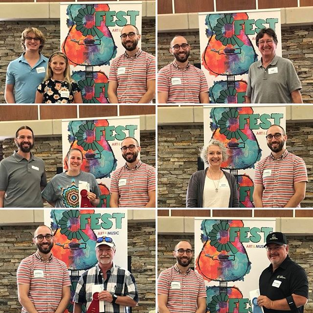 Congratulations to all of our artists on a great weekend so far and to these artists for their award-winning work. Thank you to our 2018 judge Daniel Stumeier!  Did you know because of our generous community sponsors we are able to give over $5,000 in awards to our wonderful artists. #QFEST . @quincyartcenter @thedistrictquincy @quincyrightonq @quincymedgroup @adamsfiber @knapheide1848 @seequincyil @wgemnews
