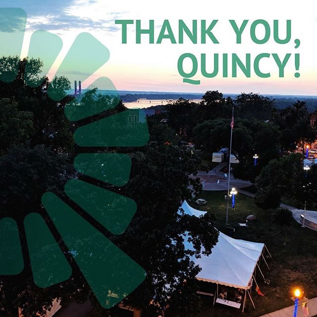 Thank you, Quincy! #QFEST #thatsawrap #seeyounextyear #RightonQ . @thedistrictquincy @quincyartcenter @quincyrightonq @quincymedgroup @adamsfiber @knapheide1848 @wgemnews @seequincyil