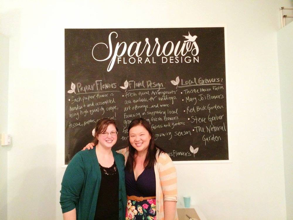 Amanda Tutwiler, owner of sparrows flowers  (left) and Sarah Christensen, owner of The Lady Jane