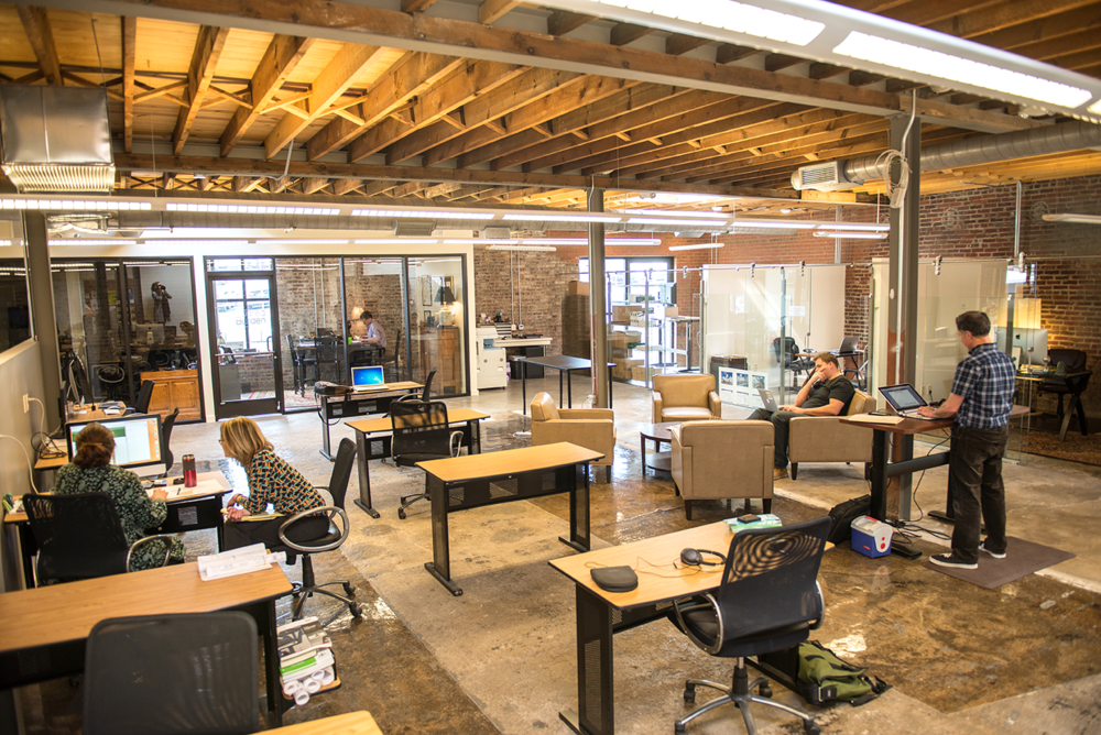 Entrepreneurs, artists, writers, creatives - this space is perfect for anyone who needs a fun space to work.