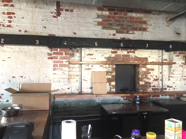 The beams from the original Ice House