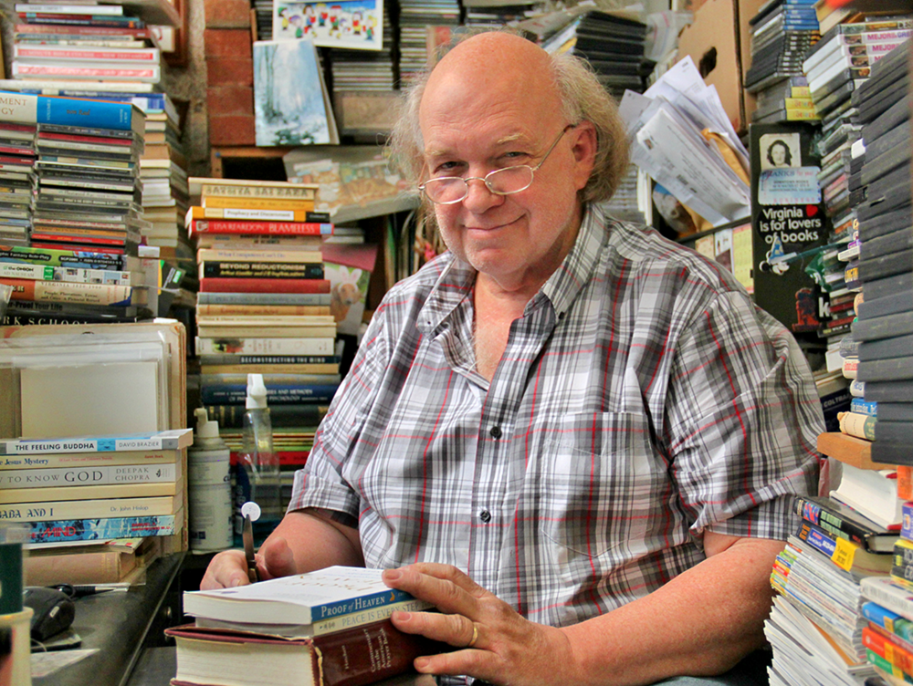 Bob Schurtz, owner of Downtown Books. Photo Credit: James Carter