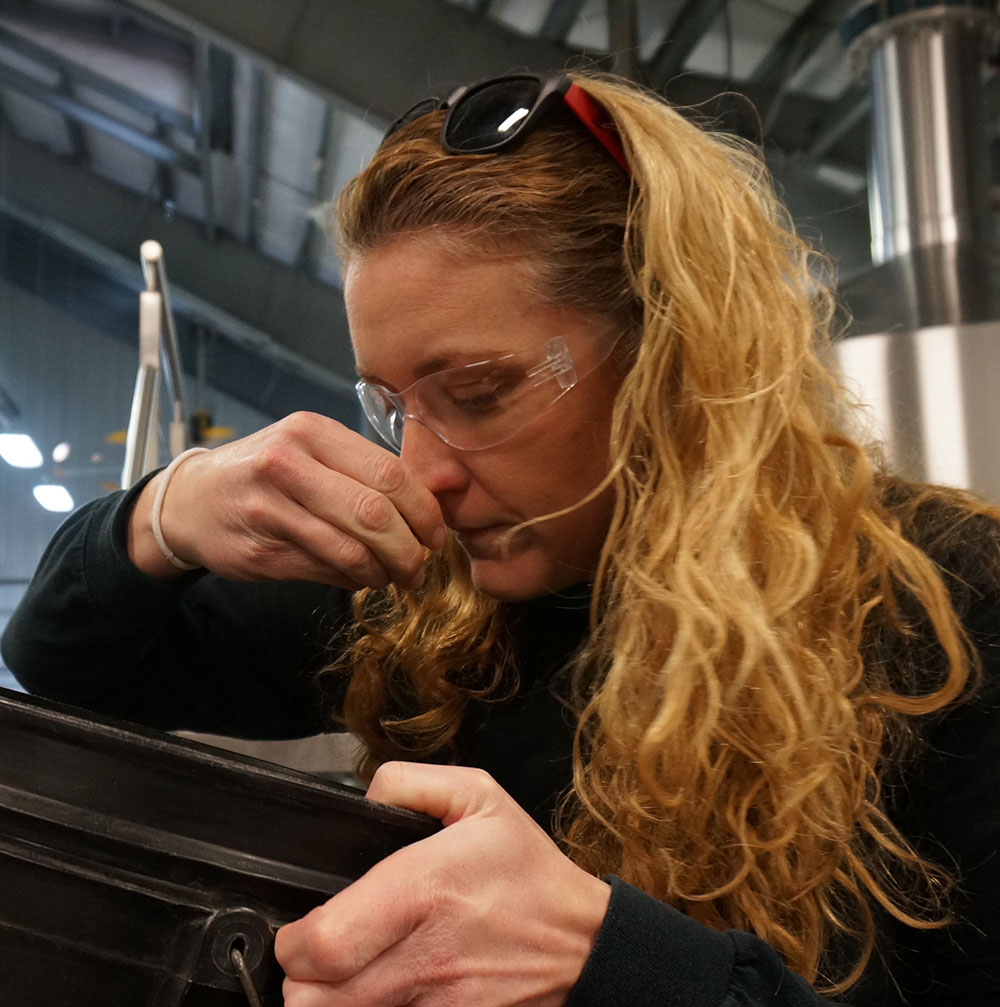 Mary was the Vice President of Harrisonburg Homebrewers Club and award-winning homebrewer before stepping down to focus efforts on Three Notch'd.  Mary has integrated her relationships into the brewery through collaborations with homebrewers, local restaurants and bands. She's been delivering creative, clean, and balanced brews since taking the position in May 2014.  Mary's passion for brewing developed from her roots in science as a high school Biology and Chemistry teacher, which she still does full-time.  She prides herself in using unique local ingredients whenever possible.