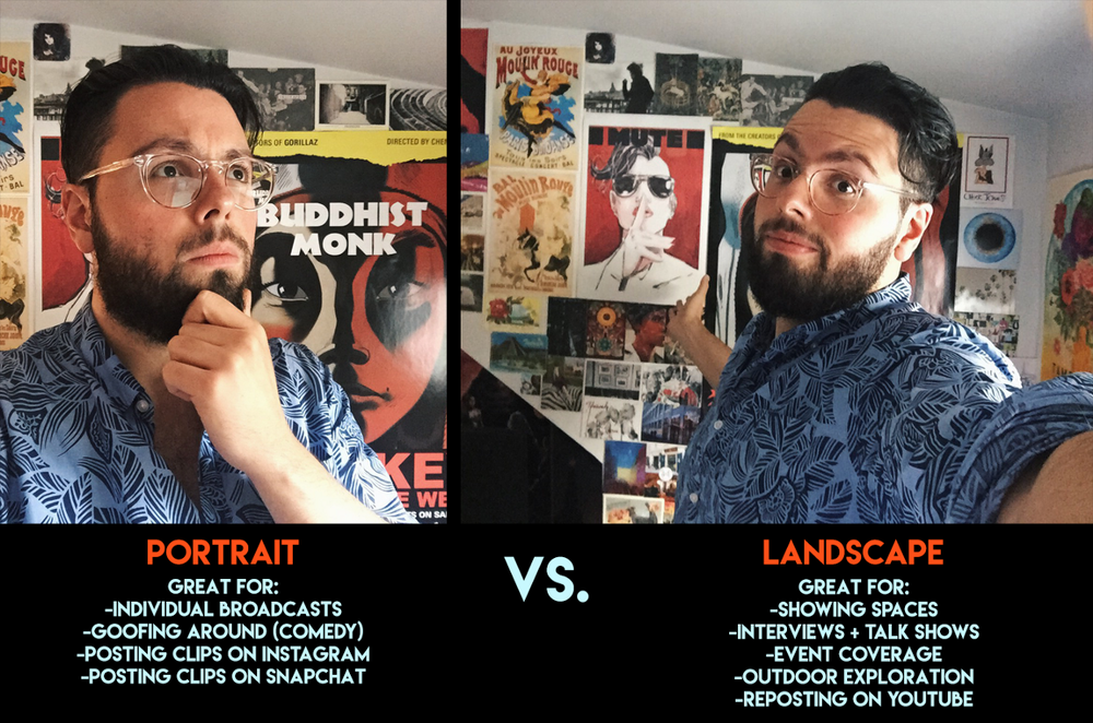 Portrait vs. Landscape