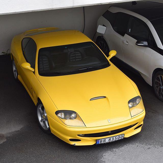 Yellow 550! 😁😁 #Ferrari #550 #Maranello #Ferrari550 #Ferrari550Maranello #FerrariClubNorway