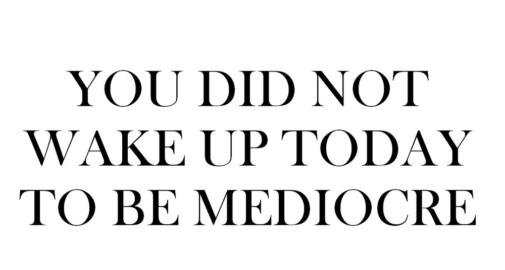 Stop setting for mediocre