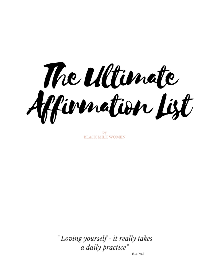 Daily Affirmation List - Black Milk Women