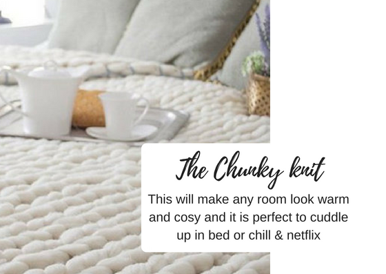 Chunky knit blanket christmas gift ideas - black milk women
