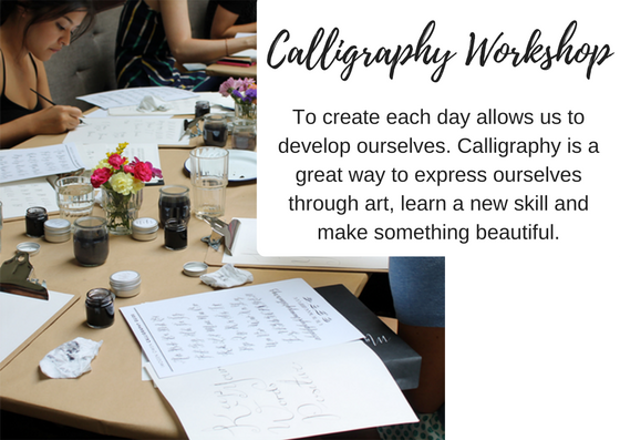 Caligraphy workshop class - imagine joy - gift ideas - black milk women