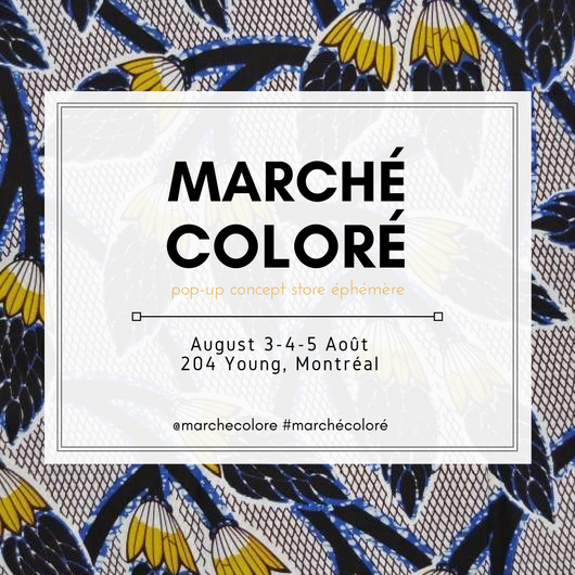 Marché Coloré is the first and only pop-up concept store, bringing together original pieces by designers who share a passion for patterns, textiles and colors.  More info +