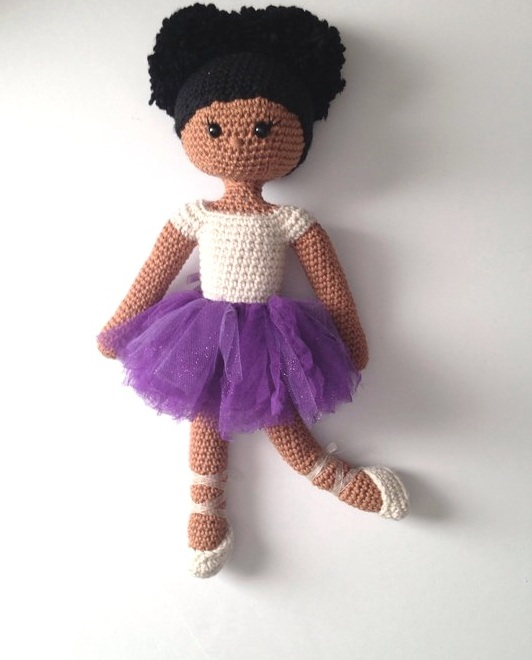My Pretty Brown Doll - What i like about this etsy shop is that you can actually create your own black ballerina doll. My Pretty Brown Doll do not sell a finished product but provides a detailed crochet pattern for you to make your own crochet doll. The instructions are very simple and easy to follow.Shop + Instagram