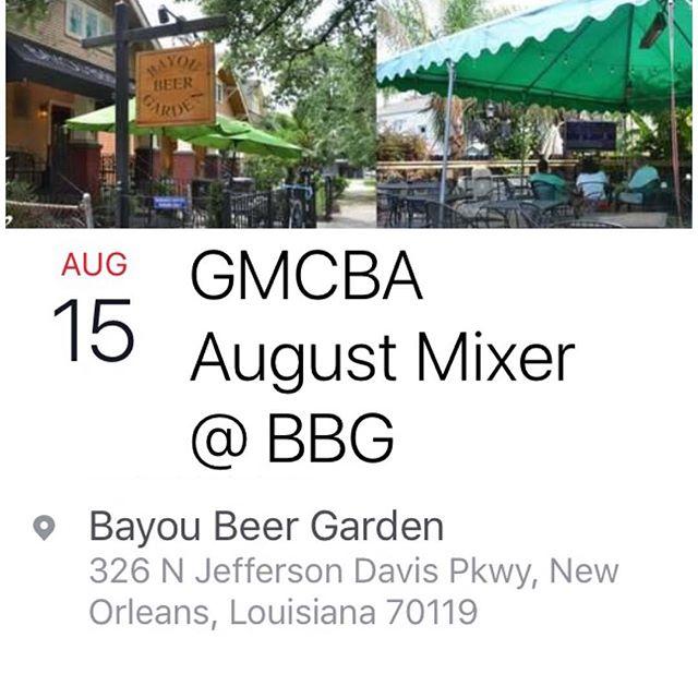 August Mixer! #midcitybiz #mixer #nola #🍺#networking #entrepreneurs #midcity @bayoubeergarden