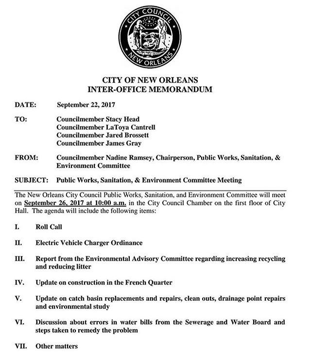 #Repost @susan.guidry_dist.a ・・・ PUBLIC NOTICE:: The Public Works Committee will discuss on 9/26/17 errors in SWB water bills and steps to remedy the problem. The meeting is opened to the public. Citizens will be allowed to comment. See agenda.