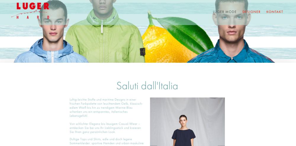Luger Mode - Konzept, grafisches Design und Bildkonzept, Text, Umsetzung, Domain-Transfer