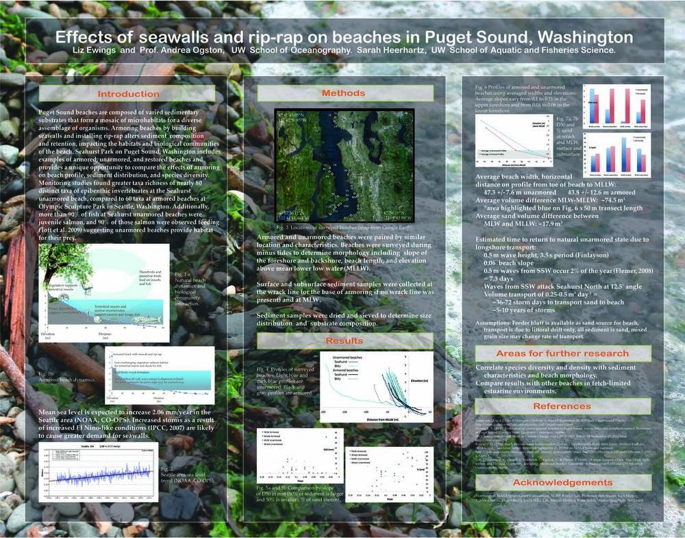 Seahurst Park Project, Scientific Poster