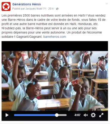 Les premières 2500 barres nutritives sont arrivées en Haïti !