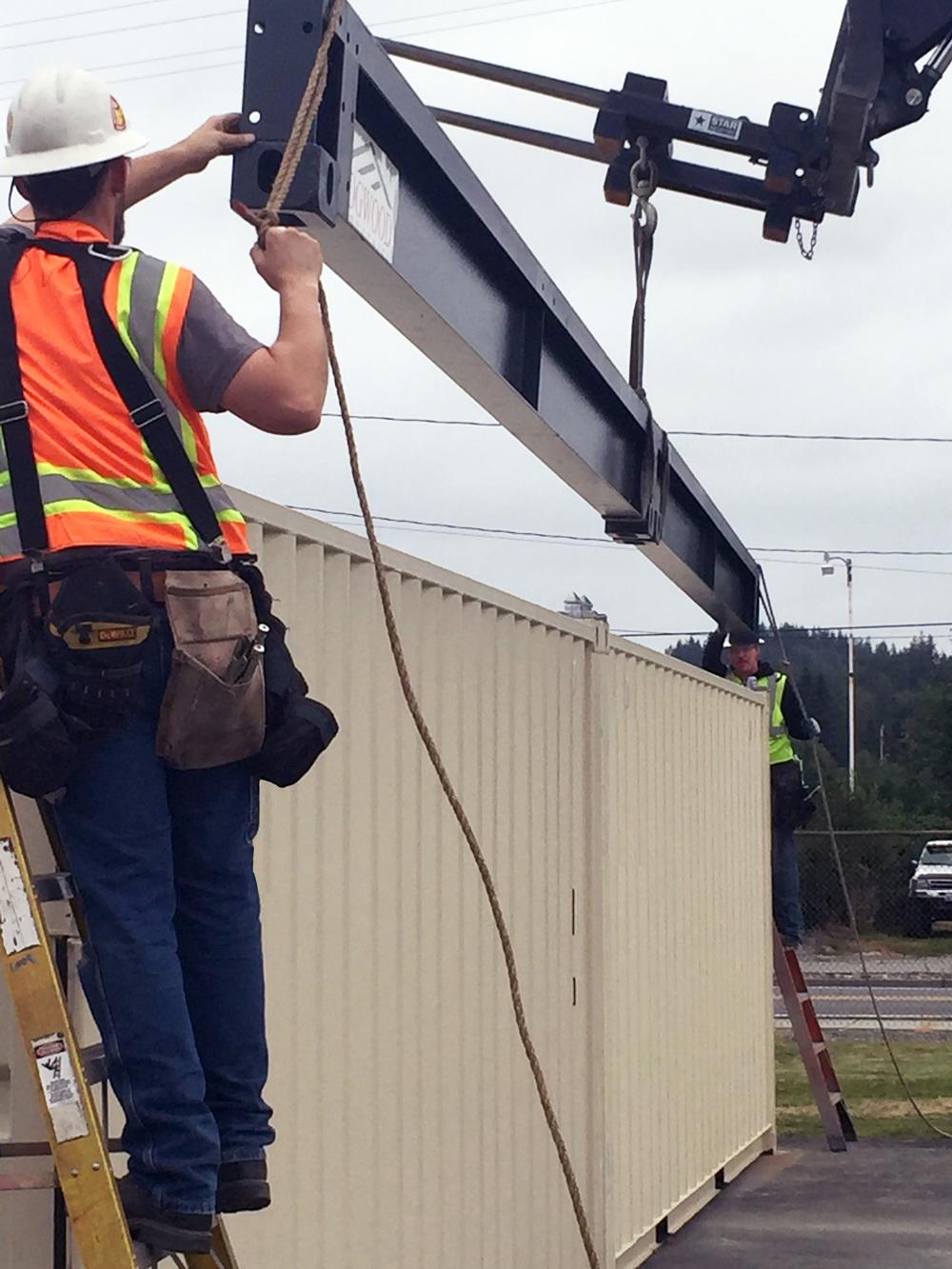 CTR beam install