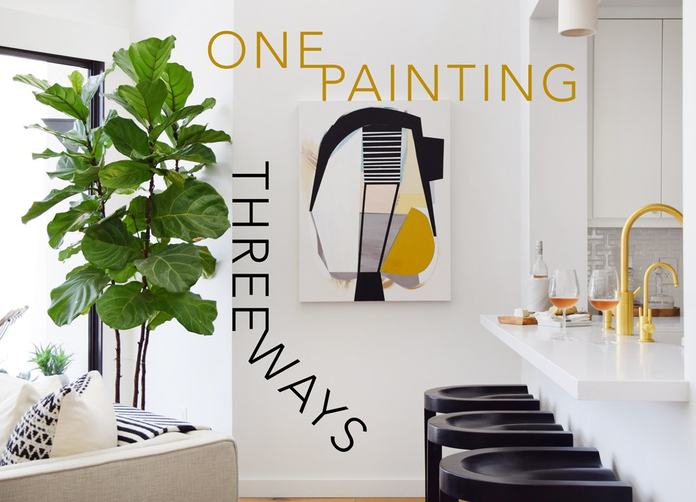 One Painting, Three Ways with Saatchi Art - Hommemaker