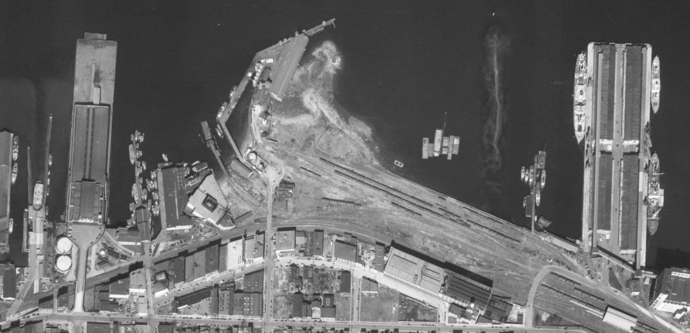 Orthophoto from 1949 image.