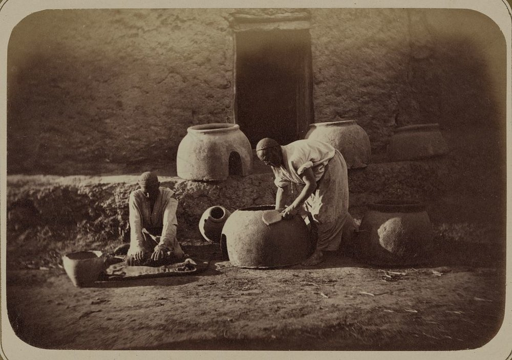 Pottery production
