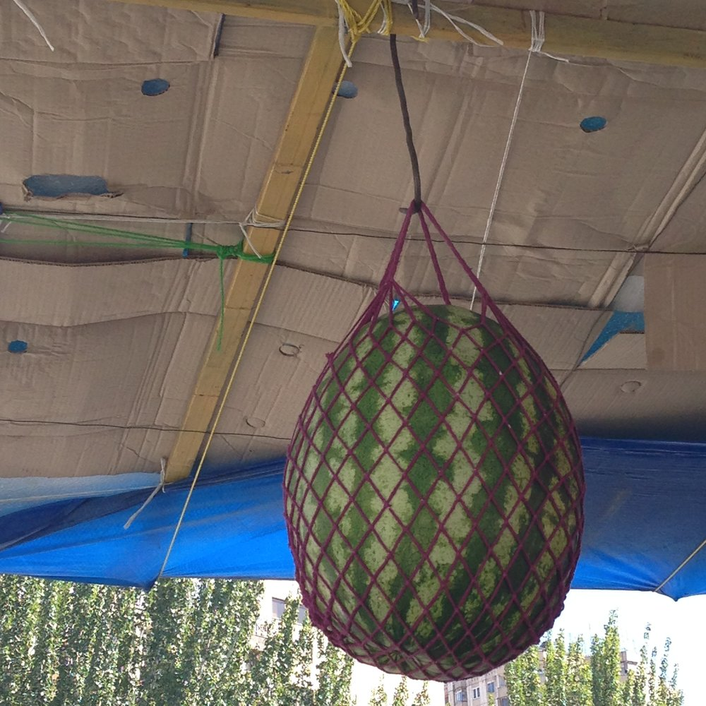 watermelon hanging in yerevan shuka, summer 2016