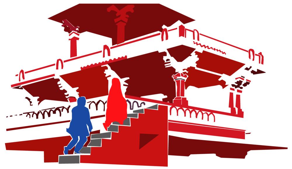 Fathepur Sikri scene reconstruction, 1:02:10, Adobe Illustrator