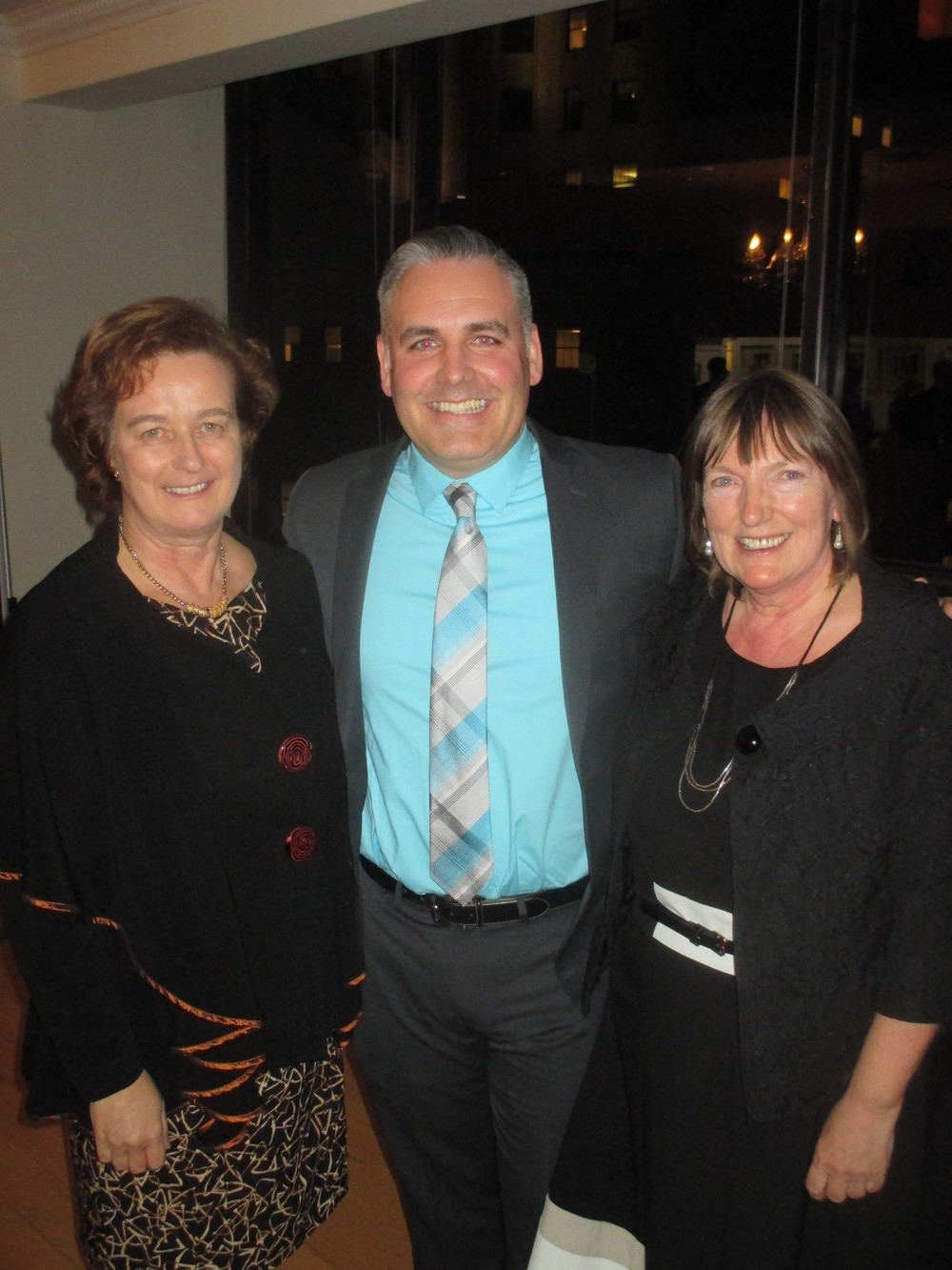 Consul General Barbara Jones, John Walsh and Christine Kinealy